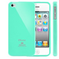 SQ1 [Mercury] Slim Fit Flexible TPU Case for Apple iPhone 4 (Turquoise Mint): Cell Phones &amp; Accessories