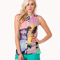 Chiffon Beach Photo Graphic Shirt