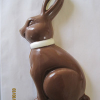 Easter bunny solid milk chocolategourmet by strzgoodies on Etsy