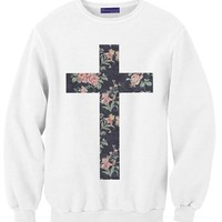 Elegant Flower Cross
