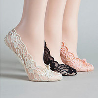 Hot Sox: Cushioned Sole Lace Foot Liners