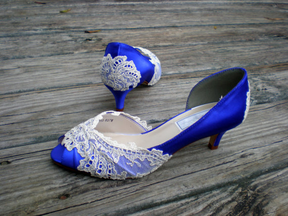 Purple Wedding Shoes Low Heel Vintage From TheCrystalSlipper On