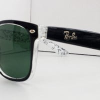 Ray Ban RB2140 Wayfarer Sunglasses Black and White Fancy Rayban