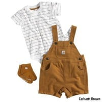 Carhartt Infant Boys 3-Piece Gift Set (Bodyshirt Shortall Socks) - Gander Mountain