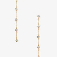 Rhinestoned Chain Earrings | FOREVER 21 - 1030186973