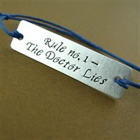 The Doctor Lies Cotton Cord Bracelet - Spiffing Jewelry
