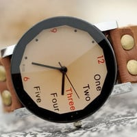 Simple Style Wrist Watch Brown Leather Bracelet  Wrap Watch, Handmade Women's Watch, Everyday Bracelet  PB027