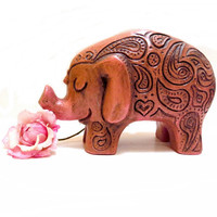 Vintage Pink Elephant Bank California Pottery 1960s