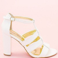 Carissa Sandal Heel- White