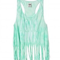 Fringe Racerback Tank - PINK - Victoria&#x27;s Secret