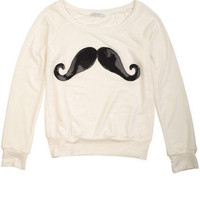 Sequin Mustache Sweatshirt