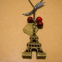 EiffelTower Charm by Bitsofbling on Etsy