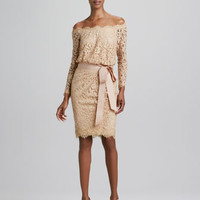 Off-the-Shoulder Lace Cocktail Dress