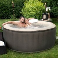 4-Person Inflatable Portable Hot Tub with Storage Bag