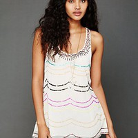 Free People Sequin Scalloped Tunic