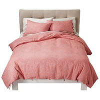 Threshold™ Chambray Duvet Set - Coral