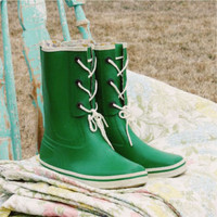 Vintage Kelly Green Mud Boots, Sweet Country Inspired Vintage Clothing
