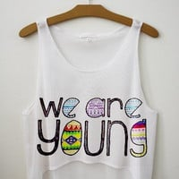 We Are Young Crop Top | fresh-tops.com