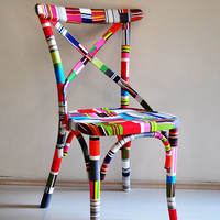 colorful Thonet dining chairs custom order by nordarchitectdesign