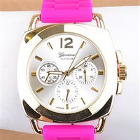 Fuchsia n' Gold Watch