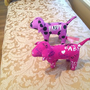 Victoria&#x27;s Secret Dog Lot Set of 2 Love Happy Purple Pink Grafitti Valentine!!!