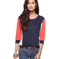 Colorblock Slub Knit Top | FOREVER21 - 2011409286