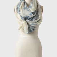 blue danube printed scarf at ShopRuche.com