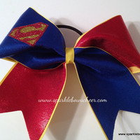 Super Steel Medium Youth Cheer Bow Hair Bow by SparkleBowsCheer