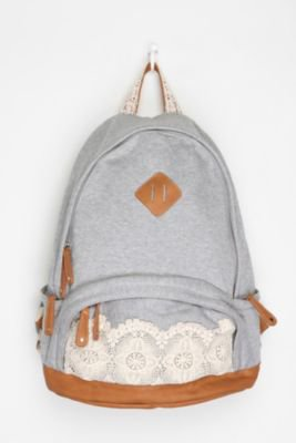 Kimchi Blue Lace and Jersey Backpack