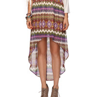 Tribal Tail Hem  Skirt | FOREVER21 - 2015036684