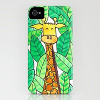 Watercolor Giraffe iPhone Case by Kayla Gordon | Society6