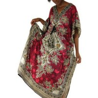 Amazon.com: Batik Design Pull-String Pull String Rayon Caftan Kaftan - Available in Several Colors (Fuschia): Clothing
