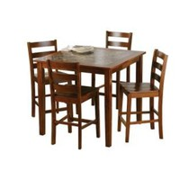 5 Pc Faux Marble Dining Set- Jaclyn Smith Traditions-For the Home-Dining-Collections
