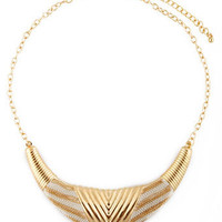 Cool Gold Necklace - Collar Necklace - $16.00