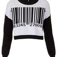 Knitted Barcode Motif Jumper - Clothing