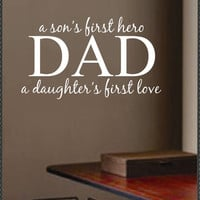 Vinyl Wall Lettering Quotes Dad Father Son Hero by WallsThatTalk