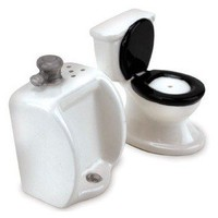 Toilet Salt &amp; Pepper Shaker Set - Whimsical &amp; Unique Gift Ideas for the Coolest Gift Givers