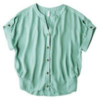 Xhilaration® Juniors Woven Boxy Shirt - Assorted Colors