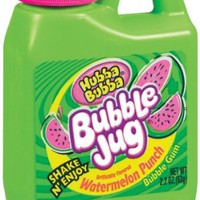 Hubba Bubba Bubble Jug, Watermelon Punch, 2.2-Ounce Jugs (Pack of 24)
