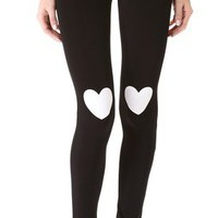 Plush Heart Print Leggings | SHOPBOP