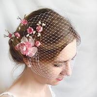 wedding birdcage veil  CUPIDS KISS  a bridal by thehoneycomb