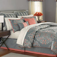 Martha Stewart Collection Bedding, Grand Damask 24 Piece Comforter Sets - Bed in a Bag - Bed &amp; Bath - Macy&#x27;s