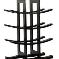Oceanstar WR1132 12-Bottle Dark Espresso Bamboo Wine Rack: Home & Kitchen