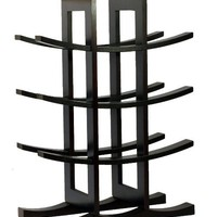  Oceanstar WR1132 12-Bottle Dark Espresso Bamboo Wine Rack: Home &amp; Kitchen