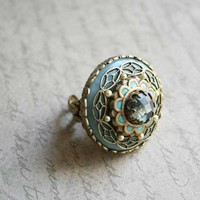 lost in time capsule cocktail ring by Ollipop
