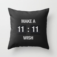 11:11 Throw Pillow by Sara Eshak | Society6
