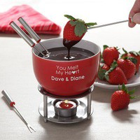 Cheap Personalized Chocolate Fondue Set You Warm My Heart