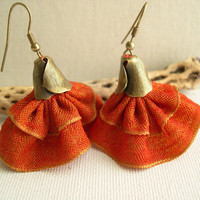 Spanish dancer earrings - Tangerine Orange Tango Earrings - Bridesmaid Earrings - Wedding Earrings - Fashion Earrings 2013