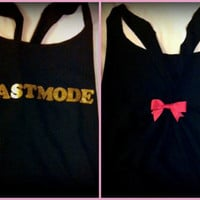 Beastmode Racerback Workout Tank Top by RufflesWithLove on Etsy