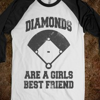 Diamonds Are A Girls Best Friend (Vintage Baseball) - Sports Fun